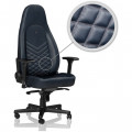 Cadeira Gaming Noblechairs ICON Real Leather Azul Midnight