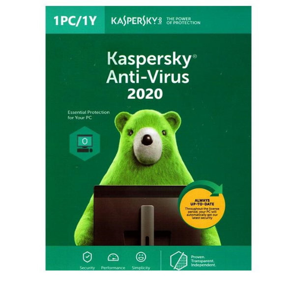 Software Kaspersky Anti-Virus 2020 1 User 1 Ano