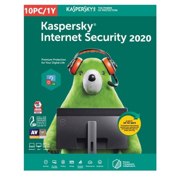 Software Kaspersky Internet Security 2020 Multi-Device 10 Users 1 Ano