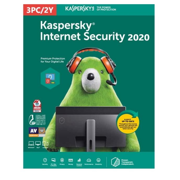 Software Kaspersky Internet Security 2020 Multi-Device 3 Users 2 Anos