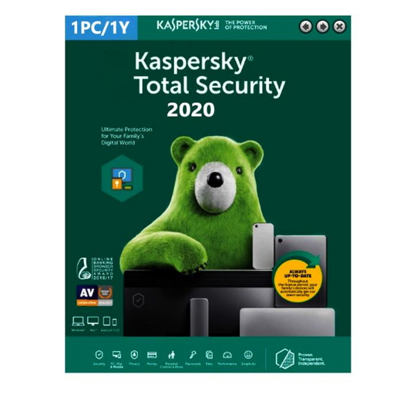 Software Kaspersky Total Security 2020 1 User 1 Ano