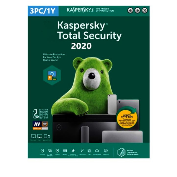 Software Kaspersky Total Security 2020 3 Users 1 Ano