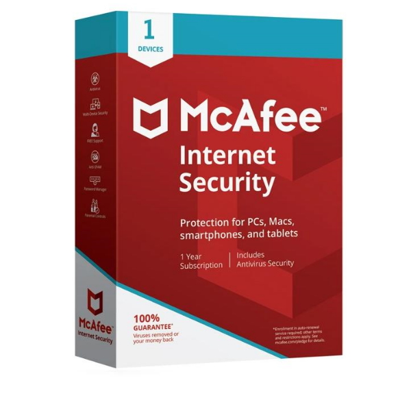 Software McAfee Internet Security 2020 1 User 1 Ano